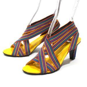 United Nude Stretch Rainbow Sandal Heels